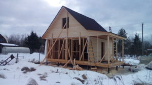 Зимнее строительство каркасного дома – выгодно и доступно